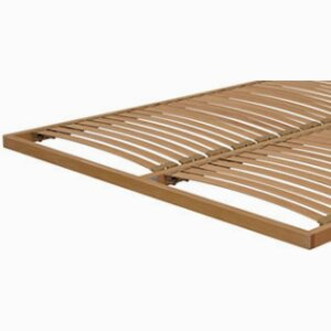 Flat orthopaedic beech multiply base with swinging slats of 38 mm