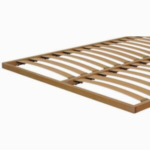 Flat orthopaedic beech multiply base with swinging slats of 68 mm