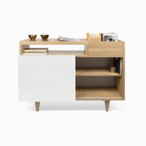 Cruz Sideboard Sideboard with multiple storage options featuring a box incorporated in the top.