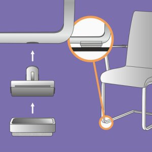 "Premium chair glide with system benefit: Basis ""Uno"""