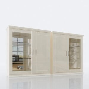 Glass-door wall cabinet 106L/R