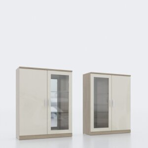 Glass-door wall cabinet 413