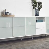 STYLISH SIDEBOARD WITH GLASS DOORS
