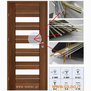 Furniture and Furnishings - Profiles for Interior and Cabinet Doors