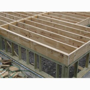 Raised Wood Floor Foundations