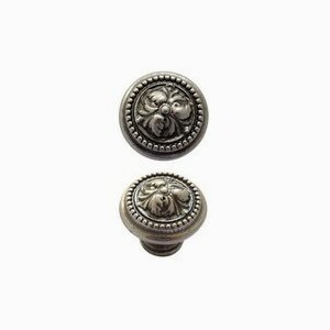Acanthus Knob in Nickel Pewter (25 mm)