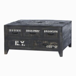 Coffee table Bronx (Mango, antique black lacquered)