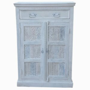 Highboard White (recyceltes Altholz, white washed)