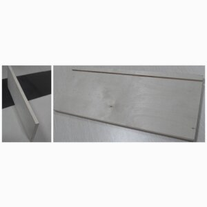 UV birch drawer side with slot and edgebanding
