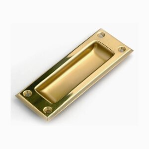 Sliding door handle made of brass or aluminium