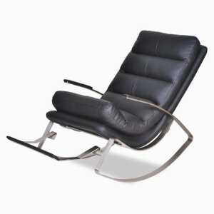 Rocking Chair Rockport PU Leather Black