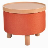 Stool Molde with Tray Large Orange