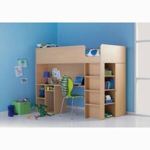 Miami High Sleeper Bed Frame with Wardrobe