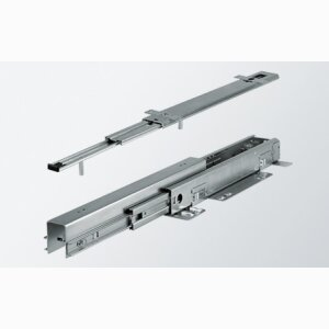 Sliding system for tall cabinets