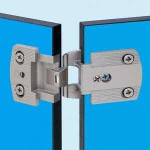 Flat hinges for thin panels