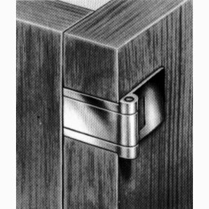 Visible hinge with elongated mortise