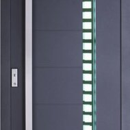 Biffar aluminium entrance doors with glass