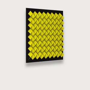 PAPERFOLD YELLOW BLACK – ACRYLIC BLACK