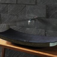 """ZEN"" natural stone washbasin made of andesite"