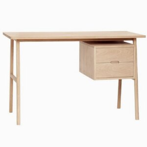 Desk w/drawers, oak, nature