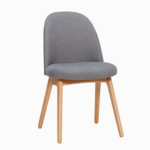 Chair w/wooden legs, dark grey