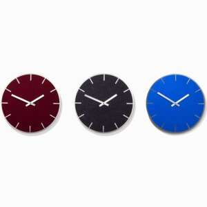 Clock »Tik«, puce, graphite, special colour light blue