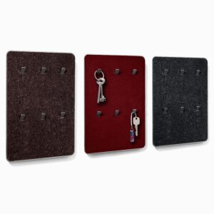 Key rack »Trak«, special colour nature brown, puce, graphite