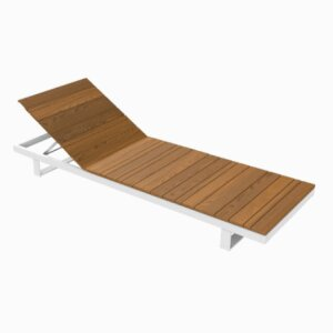 PURE COLLECTION / Wooden Sunlounger