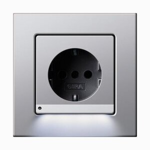 Gira SCHUKO socket outlet with LED orientation light