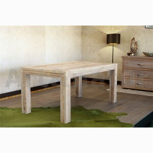 Bleached Solid Wood Dinning Table
