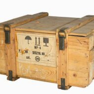 Historical middle ammunition box in natural look