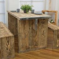 Dining room set - plank furniture