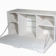 Large Shabby Chic wall hanging bar with integrated worktop