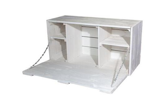 mobel shabby chic, large shabby chic wall hanging bar with integrated worktop by, Design ideen