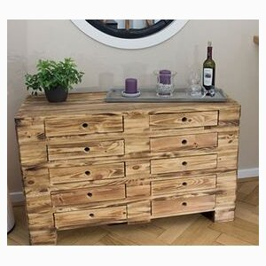 Vintage chest of drawers made of pallet wood