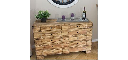 Vintage Chest Of Drawers Made Of Pallet Wood By Vintage Mobel 24