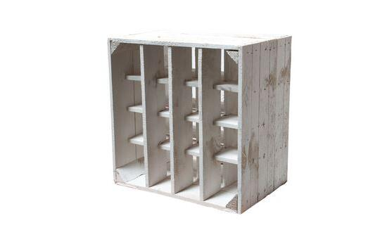 mobel shabby chic, white shabby chic wine rack by vintage-möbel 24 gmbh | ambista, Design ideen