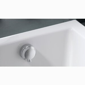 Geberit bathtub drain with inflow function