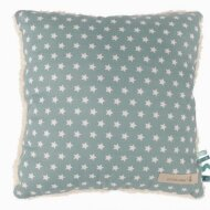 Decorative cushion Stars aquamarine