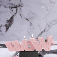 WOW Sign candle