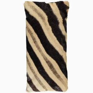 South African zebra cushion 28x56 cm