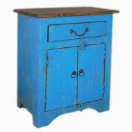 WOODEN 2 DOOR 1 DRAWER BEDSIDE Nachttisch