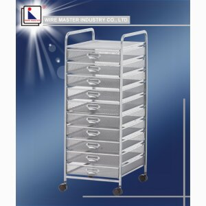 Ten Drawer Storage Rack