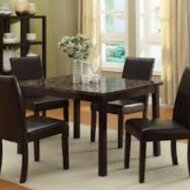 Marble paper veneer dining table set