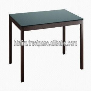 Jago 6 Seater Wooden Dining Table with Glass Top 1500mm X 900mm