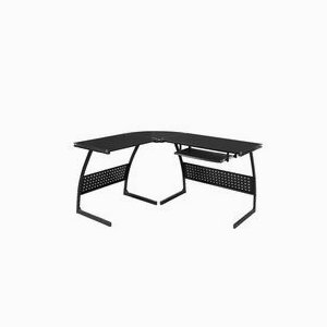 Corner L-Shape Glass Laptop Table Workstation Home Office Black Computer Desk