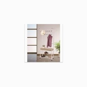multifunctional modern metal frame coat hanger with shoe rack