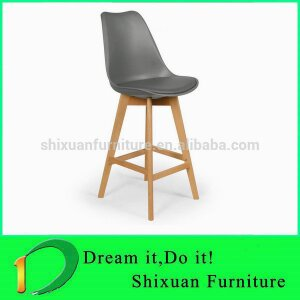 High quality wood leg bar chair