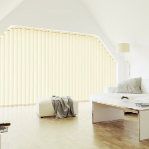 Vertical louvre blinds Inclined units for triangular windows