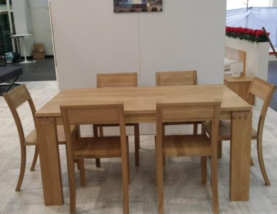 Solid Oak Dining Table With 6 Chairs By BOKSIT Joint Stock Co